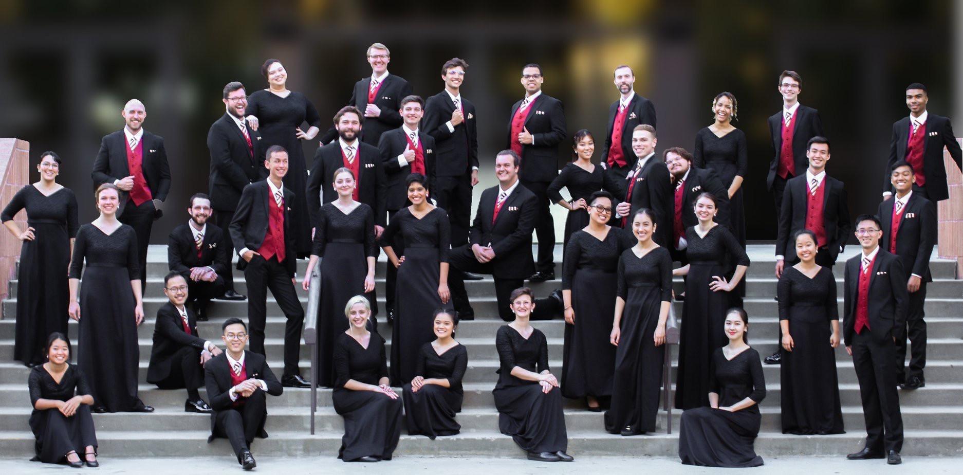 Brandon Di Noto with one of his past ensembles, the USC Thornton Chamber Singers.