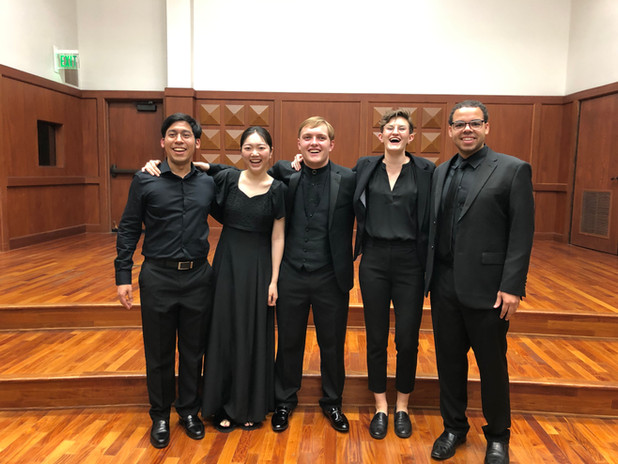 Brandon DiNoto with his USC colleagues following a student recital.