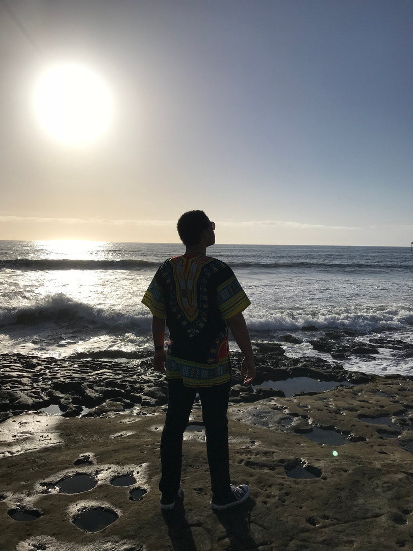 Brandon Di Noto on location before a music video shoot with the PLNU Concert Choir.