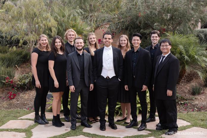 Brandon Di Noto with current ensemble, Pacific Harmonix.