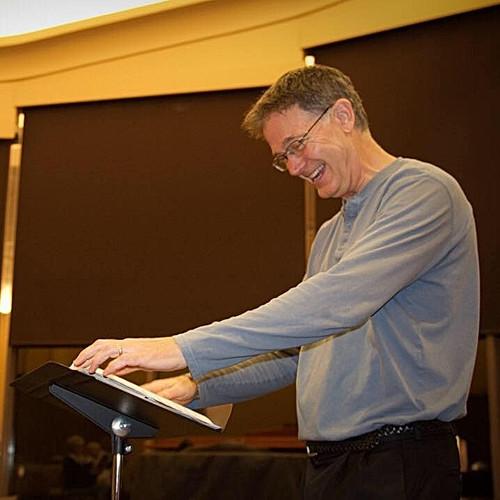 Victor Labenske conducting Church Choir Rehearsal.