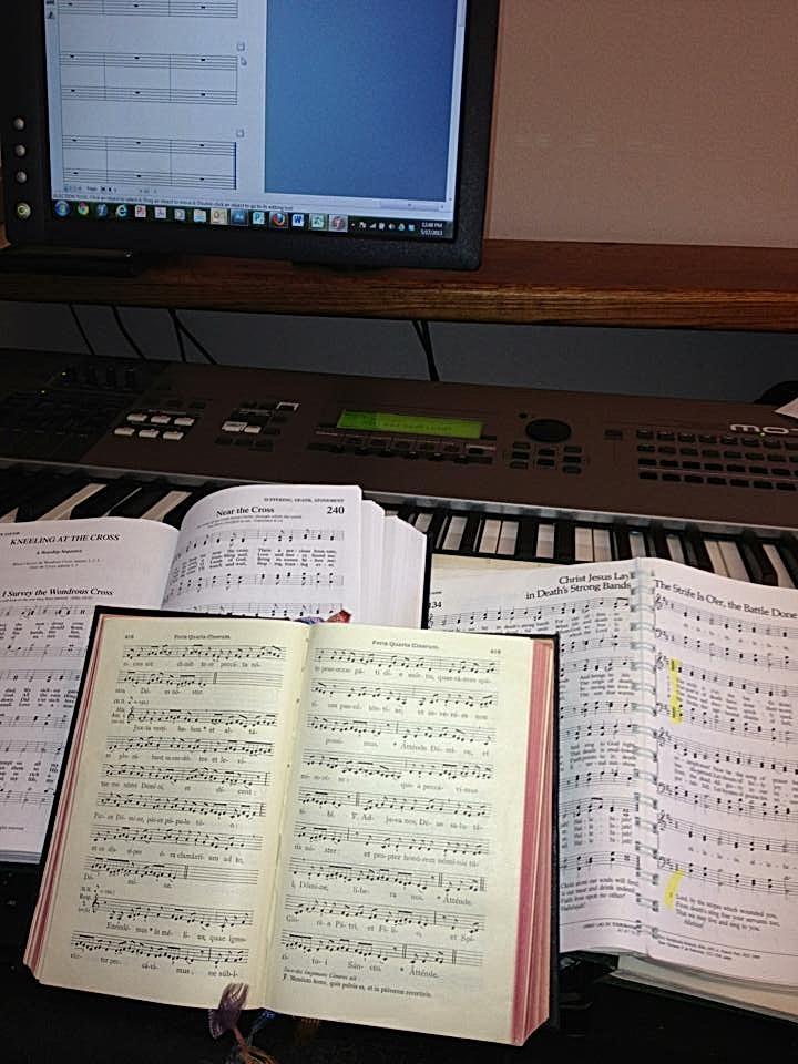 Victor Labenske's arranging hymnals.