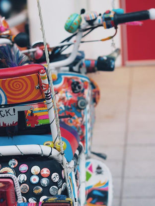 Rainbow coaster 🏖🎢🛵_Hello July, Nice