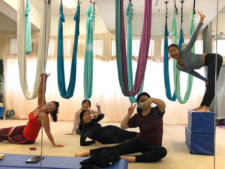 Aerial Yoga with ACO Alumni