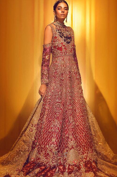 Red Heavy Bridal Dress