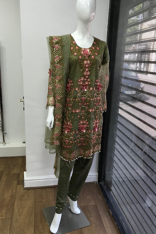 Green Full Suit