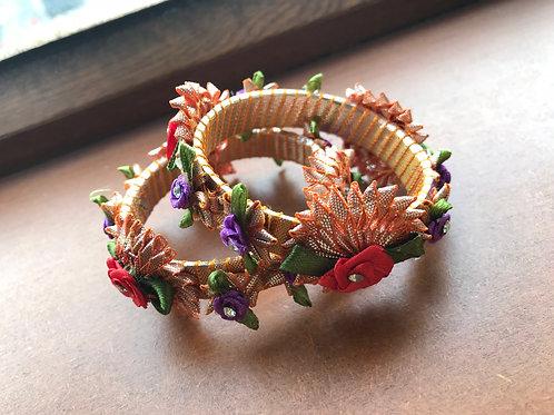 Handmade Gotta Floral Bangles