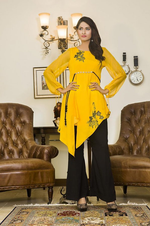 YELLOW AND BLACK COLOR CASUAL WEAR