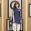 Thumbnail: NAVY BLUE AND OFF WHITE COLOR CASUAL DRESS