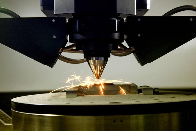detail of 3d printer printing a metal pi