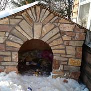 Custom Stone Dog House