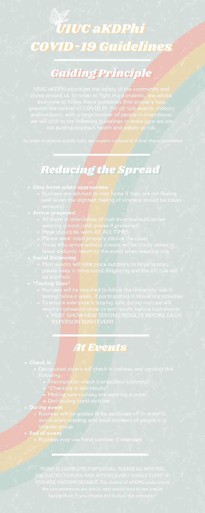 alpha Kappa Delta Phi COVID-19 Guideline