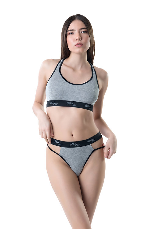 Women sport bra and thong