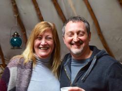 Tea in the yurt