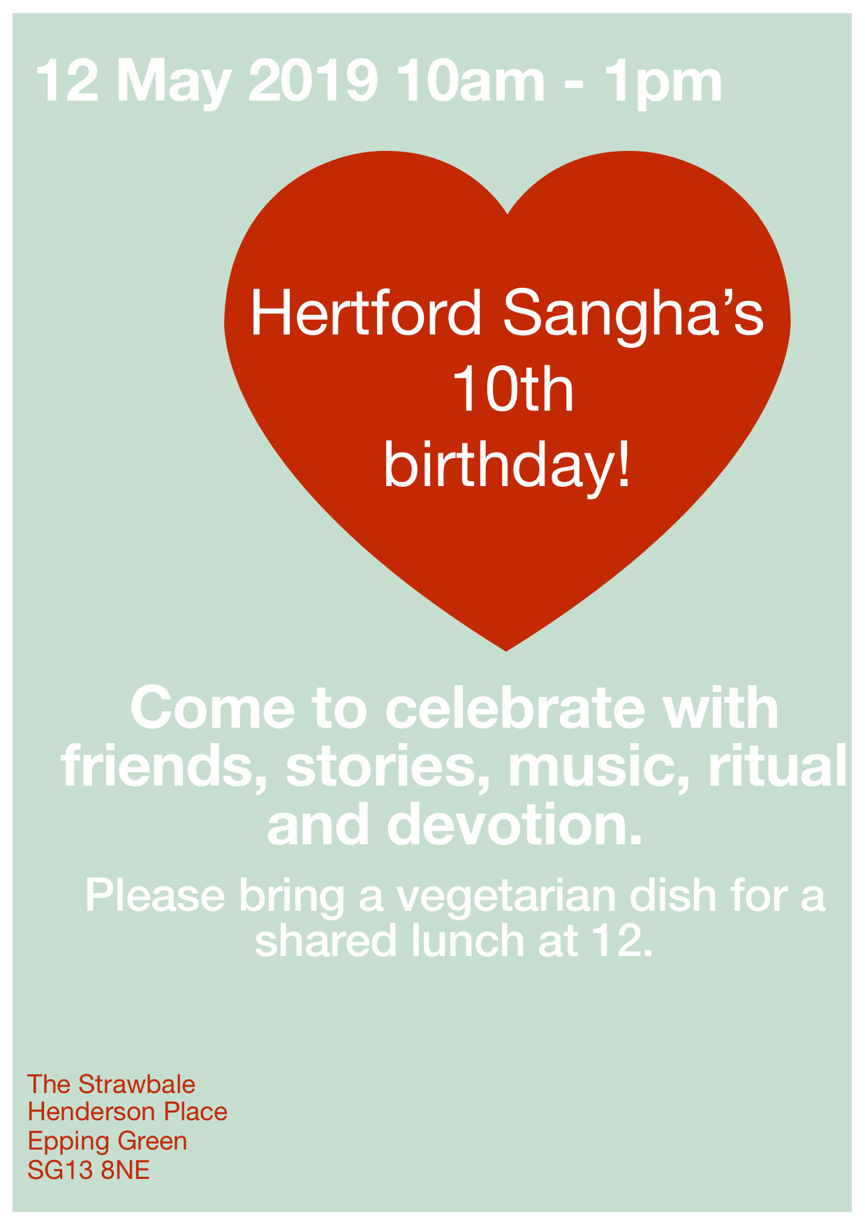 Hertford Sangha's 10th Birthday