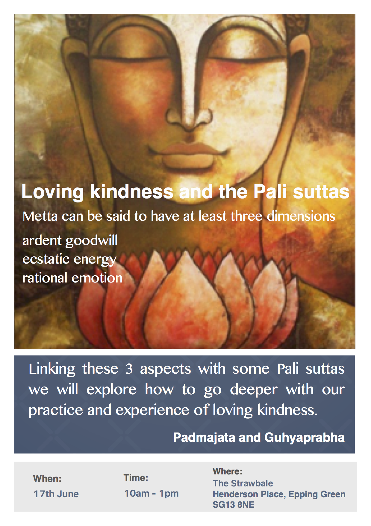 Loving Kindness and the Pali suttas PNG.