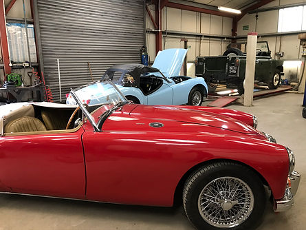 plough garage classic car cars land rover mg mga triumph tr tr2 repairs pontesbury shrewsbury shropshire midlands