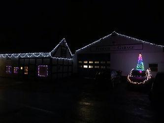 plough garage pontesbury christmas lights