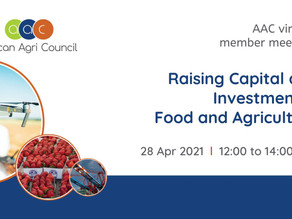 Webinar - Raising Capital and Investment in Food and Agriculture