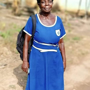 57 Year Old Partakes in BECE in Ghana