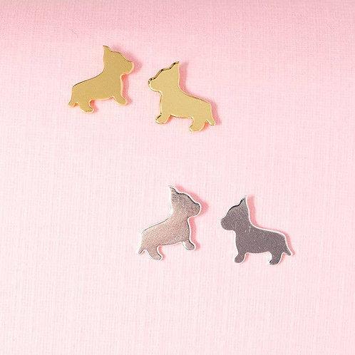 Mini Dog Post Earrings