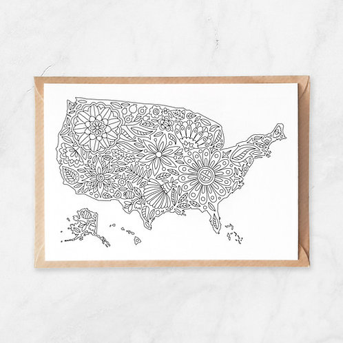 Color Your Own Card | Flowers USA