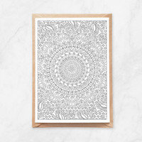 Color Your Own Card | Butterflies Mandala