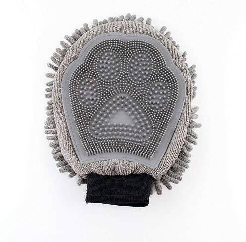 Midlee Deluxe Quick Dry Microfiber Pet Grooming Mitt