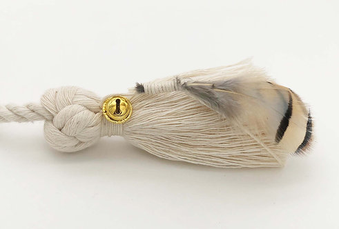 Cat Wand With Bell and Feather