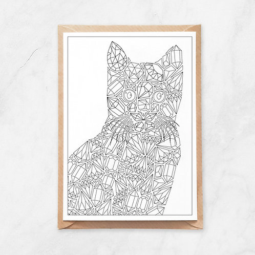 Color Your Own Card | Cat