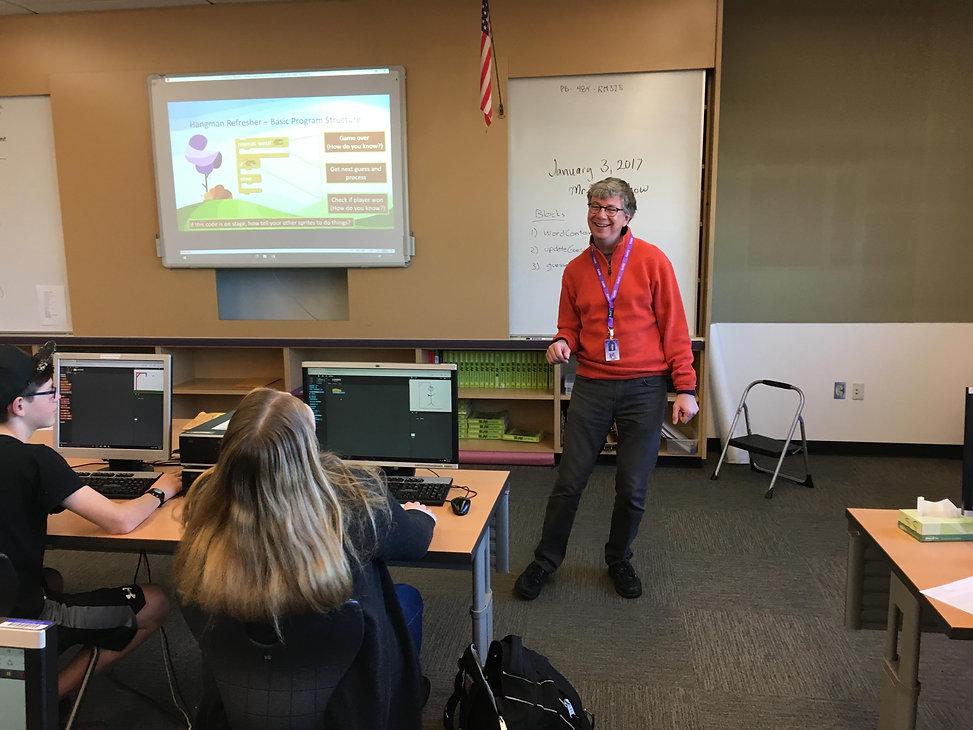 John Krumm teach high school computer science with the TEALS program