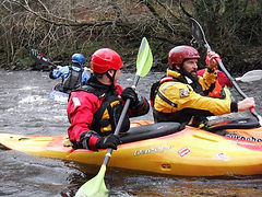 Members of Cardiff Canoe club