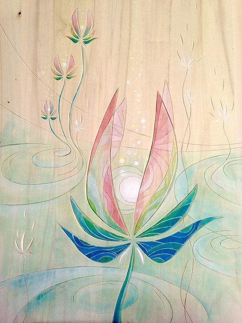 Fleur d'eau et de lumière
