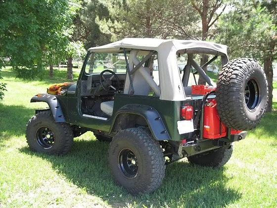 Wrangler and CJ Rear Bumper/Tire Carrier Rack System