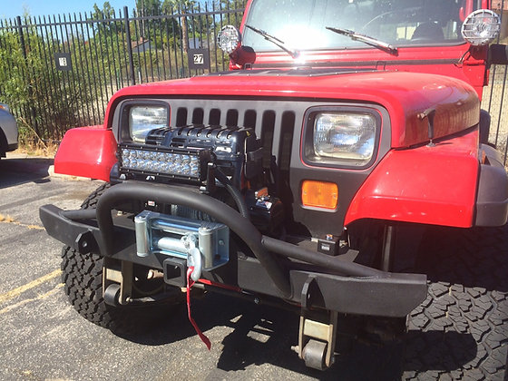 Wrangler and CJ Front Winch Bumper
