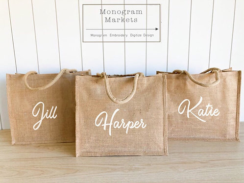 Personalized Jute Totes