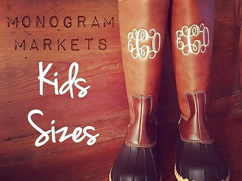 Monogram Tall Duck Boots