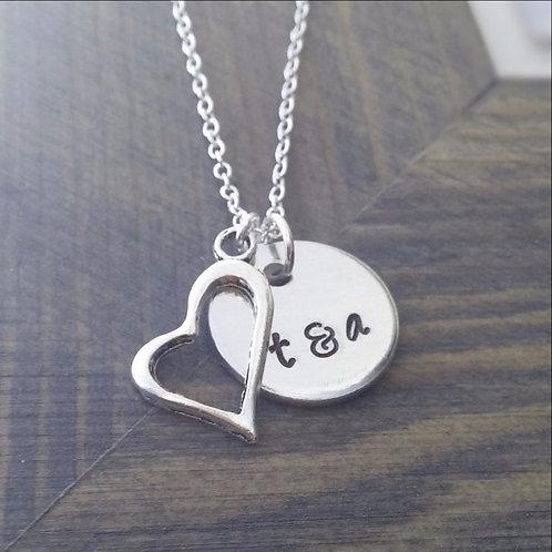 Custom Couples Initials Necklace