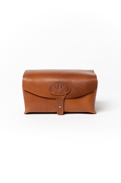 Men's Toiletry Case - Dopp Kit, Walnut - Monogram