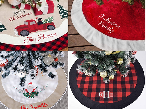 Tree Skirts Personalized