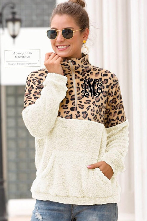 Leopard Zipped Sweatshirt