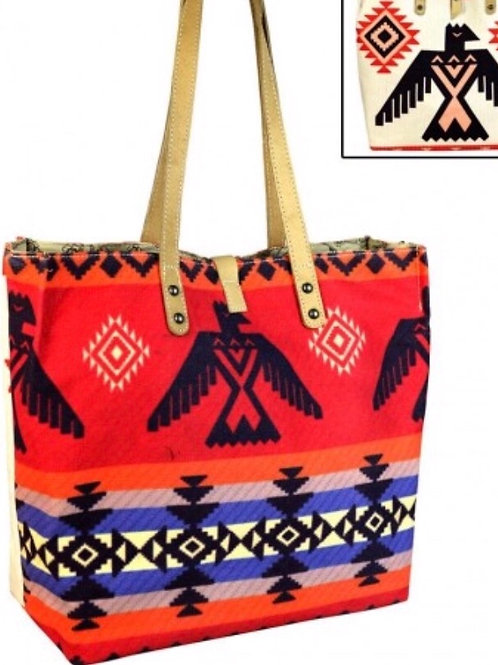 West American Native Canvas Tote