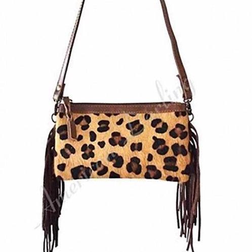 Cheetah Print Fringe Bag