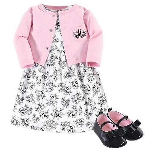 Cardigan Dress Complete Set Monogrammed