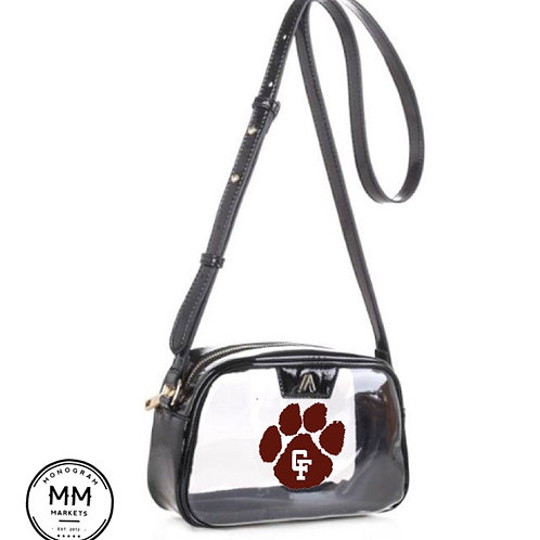 Crossbody clear bag with design
