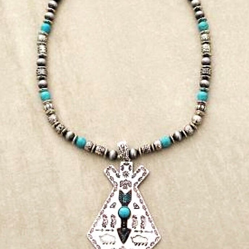 Navajo Silver Beaded Necklace