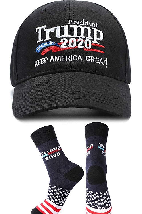 Trump 2020 cap with free socks