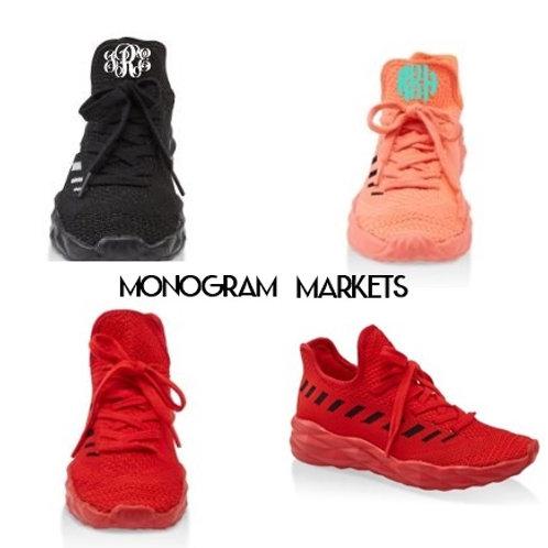 Monogrammed Abby Sneakers