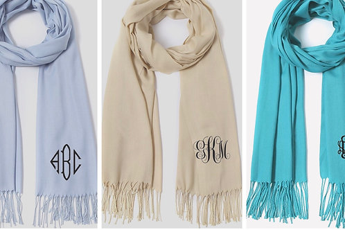 Pashmina monogram scarves