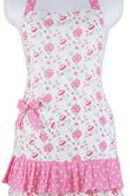 Pretty in Pink Vintage Floral Apron